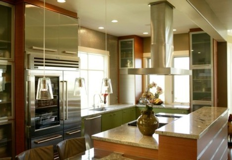 kitchen with hood